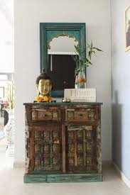 Modern Indian Home Decor Jharokha Mirror With A Drawer Unit Below Ideal For The Entrance