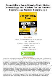download pdf cosmetology exam secrets study guide cosmetology