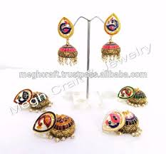 jhumki style earrings peacock style multicolored wholesale earring traditinal jewelry