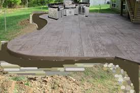 How To Build A Cement Patio Stamped Concrete The Lil House That Could