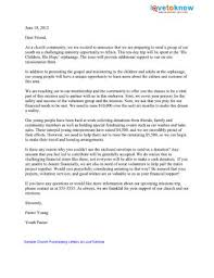 sample church fundraising letters lovetoknow