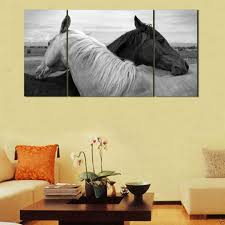 Horse Home Decor by 2017 Home Decor Hd Print Art Painting On Canvasno Frameblack And
