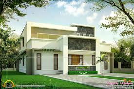 flat roof house plans wide flat roof house with floor plan kerala home design and ground
