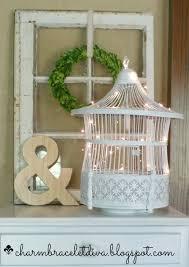 Bird String Lights by Our Hopeful Home Vintage Bird Cage Makeover