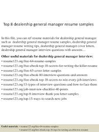 top 8 dealership general manager resume samples 1 638 jpg cb u003d1437636722