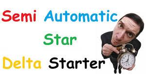 star delta starter control circuit semi automatic motor