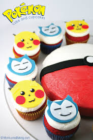 Baking And Cake Decorating Pokémon Cake And Cupcakes Mom Loves Baking