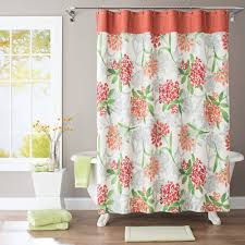 better homes and gardens watercolor floral fabric shower