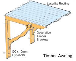 Awning For Back Door Build A Decorative Timber Awning Doors Cabin And Window