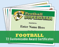 football certificates templates youth football kid