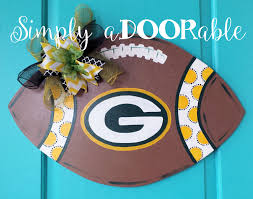 green bay packers football wood door hanger this packers football green bay packers football wood door hanger this packers football is simply adoorable and perfect