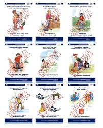 electrical safety 24 posters in set