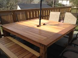 Build Patio Table White Simple Square Cedar Outdoor Dining Table Diy Projects