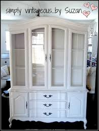 hutch makeover in color pure white chalk paint by annie sloan