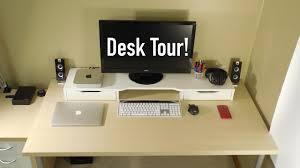 Desk Setup Ultimate Tech Desk Setup 2015 Youtube