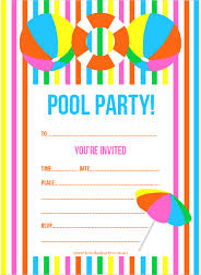 printable party invitations free printable summer pool party invitation the girl creative