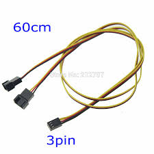 chassis fan connector splitter online shop 1piece 60cm 3 pin to 3 pin pc computer case fan y