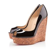 christian louboutin wedges melisa 70 mm black ebay christian