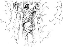 jesus second coming coloring page from daniel revelation 531921