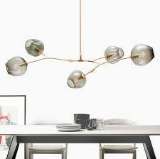 Discount Modern Chandeliers Online Cheap Led Ceiling Light Modern Green Leaves Light Crystal