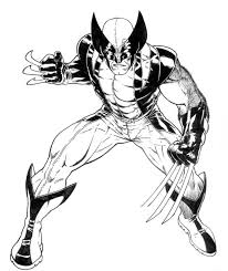 coloring pages surprising wolverine coloring pages free