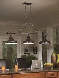 3 light island chandelier emery 3 light linear island ceiling pendant palladian bronze qz
