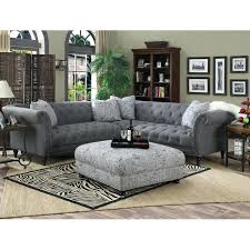 Charcoal Gray Sectional Sofa Charcoal Gray Sectional Sofas Sally Tufted Sectional Sofa Reviews