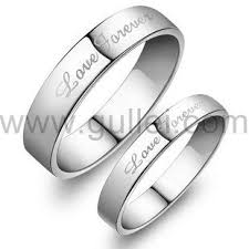 promise rings silver images Name engravable sterling silver couples promise rings set jpg