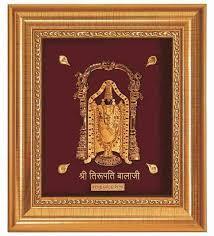 lord venkateswara photo frames with lights and music buy finedor 24k gold leaf frames lord balaji golden frame online