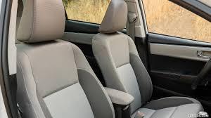 toyota corolla seats 2017 toyota corolla le eco white interior front seats