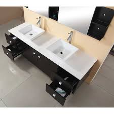 72 Inch White Bathroom Vanity by 72 Inch White Double Sink Vanity Set Contemporary Bathroom