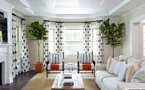 Bay Window Curtain Rod Bay Window Curtain Rod Living Room Beach With Blue And White