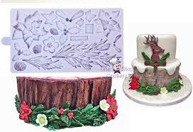 karen davies sugarcraft christmas winter wreath silicone mould