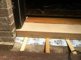 Wooden Exterior Door Threshold The Stretch Replacing The Door Sill Threshold A Home In