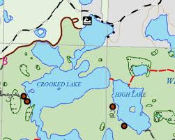 Boundary Waters Map Sylvania Wilderness Guide Canoeing Com