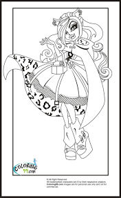 monster coloring pages monster clawdeen wolf coloring