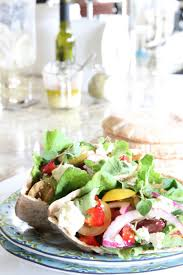 homemade greek salad pita just a smidgen