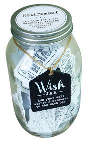wedding wishes adventure top shelf retirement wish jar personalized gift for