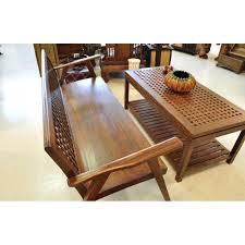 Wohnzimmer Tisch Sitzbank Wohnzimmer Tisch Set Aus Massivholz Teakholz