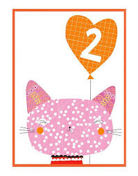 birthday cards for kids cat birthday cards for children age cards 2nd birthday card