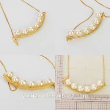 Custom Necklace New Design Fashion Simple Pearl Necklace Designs Artificial Custom