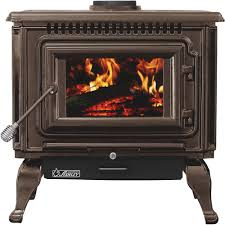 ashley xl porcelain enamel wood stove u2014 mahogany 112 000 btu epa