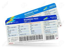 travel tickets images Group of color airline tickets for first and business economy jpg