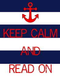 Keep Calm and Read nautical themed poster 2 color choices