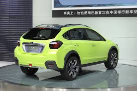 suv subaru xv subaru xv concept is a high riding impreza crossover
