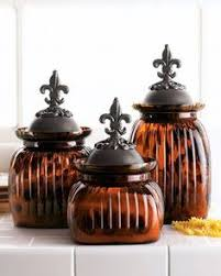 fleur de lis canisters for the kitchen mini quarter potpourri jar potpourri crackle glass and glass