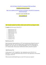 acc 423 week 3 wileyplus assignment with excel sheet by