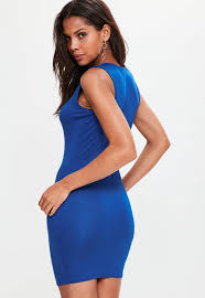 blue bodycon dress blue lace up front bodycon dress missguided ireland