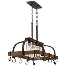 oil rubbed bronze pot rack with lights hanging pot rack with lights pinteres
