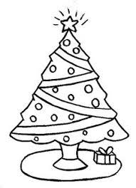 christmas tree pictures draw color kindergarten merry